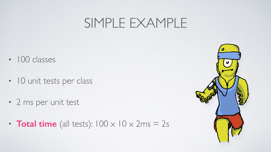 SIMPLE EXAMPLE • 100 classes • 10 unit tests pe...