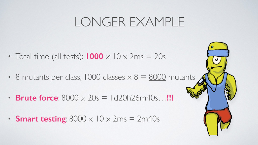 LONGER EXAMPLE • Total time (all tests): 1000 x...