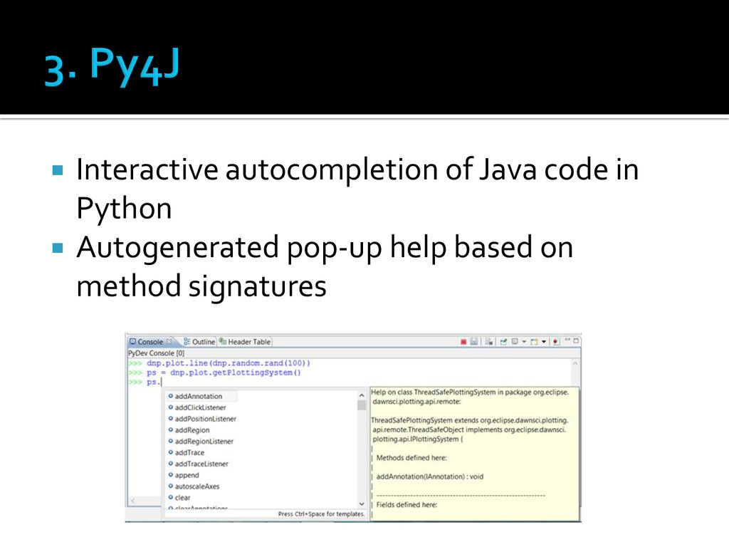  Interactive autocompletion of Java code in Py...