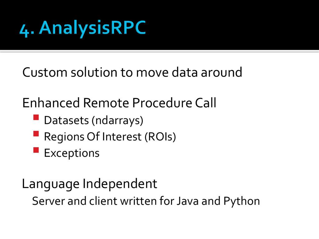 Custom solution to move data around Enhanced Re...