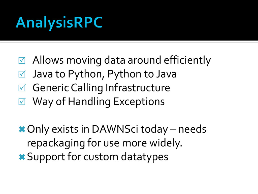  Allows moving data around efficiently  Java ...