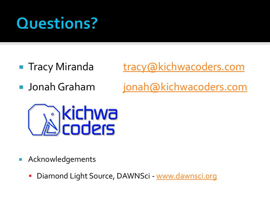  Tracy Miranda tracy@kichwacoders.com  Jonah ...