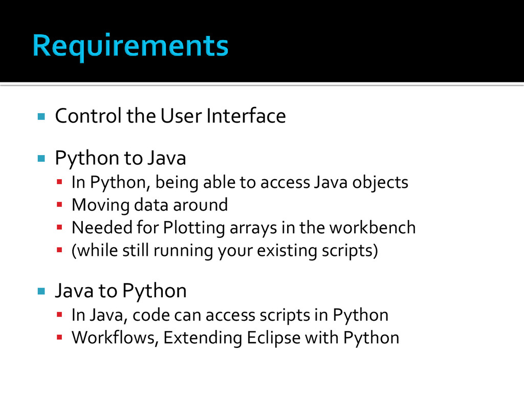  Control the User Interface  Python to Java ...
