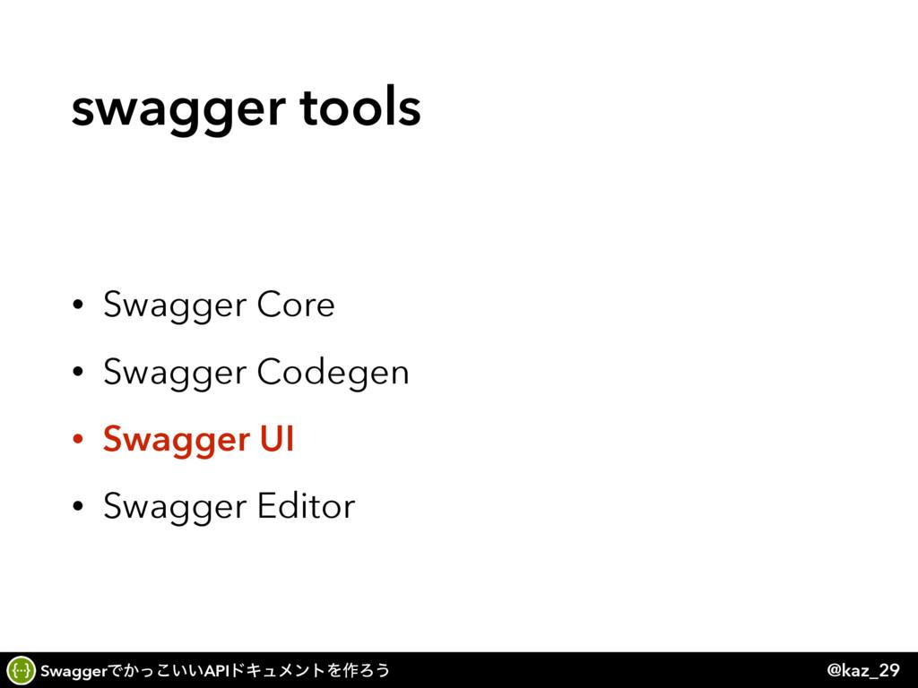 SwaggerͰ͔͍͍ͬ͜APIυΩϡϝϯτΛ࡞Ζ͏ @kaz_29 swagger tool...