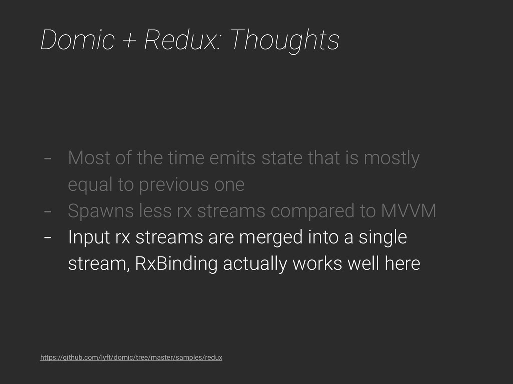 Domic + Redux: Thoughts - Most of the time emit...
