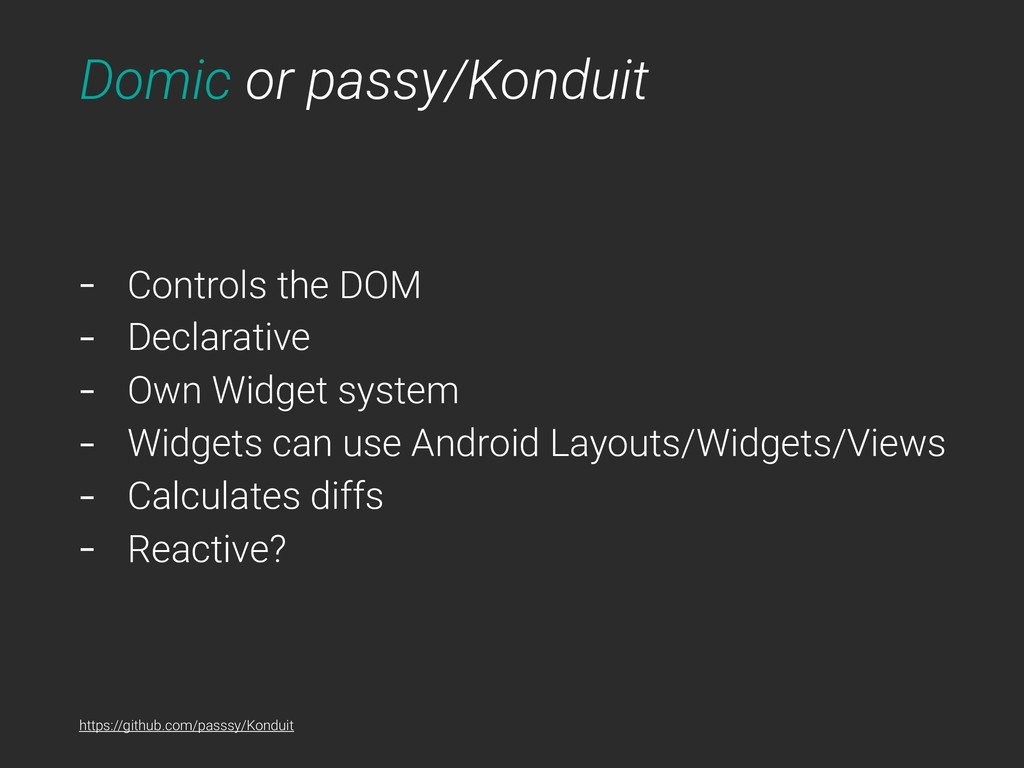 Domic or passy/Konduit - Controls the DOM - Dec...