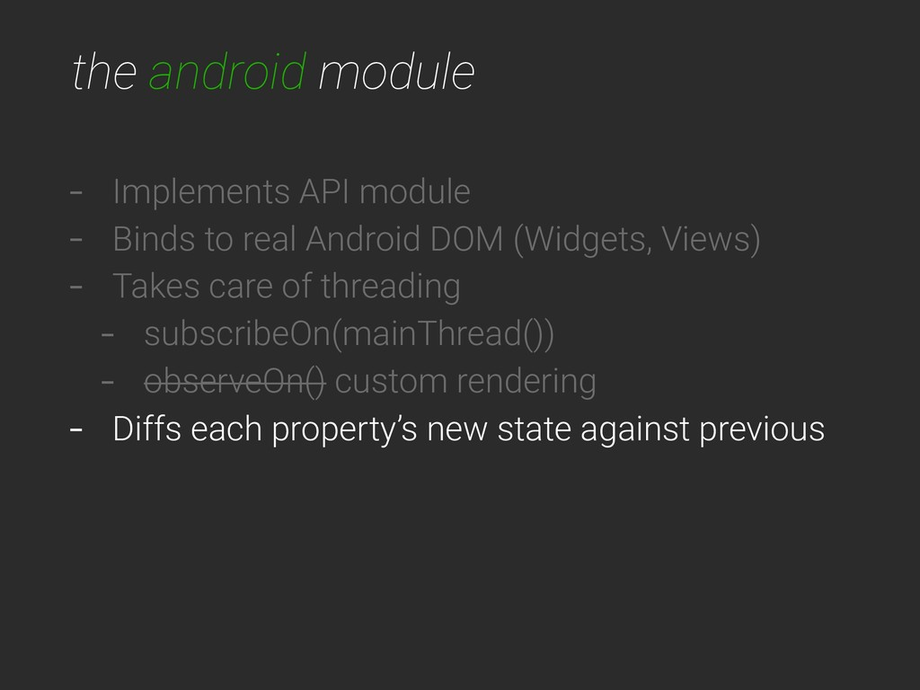 the android module - Implements API module - Bi...
