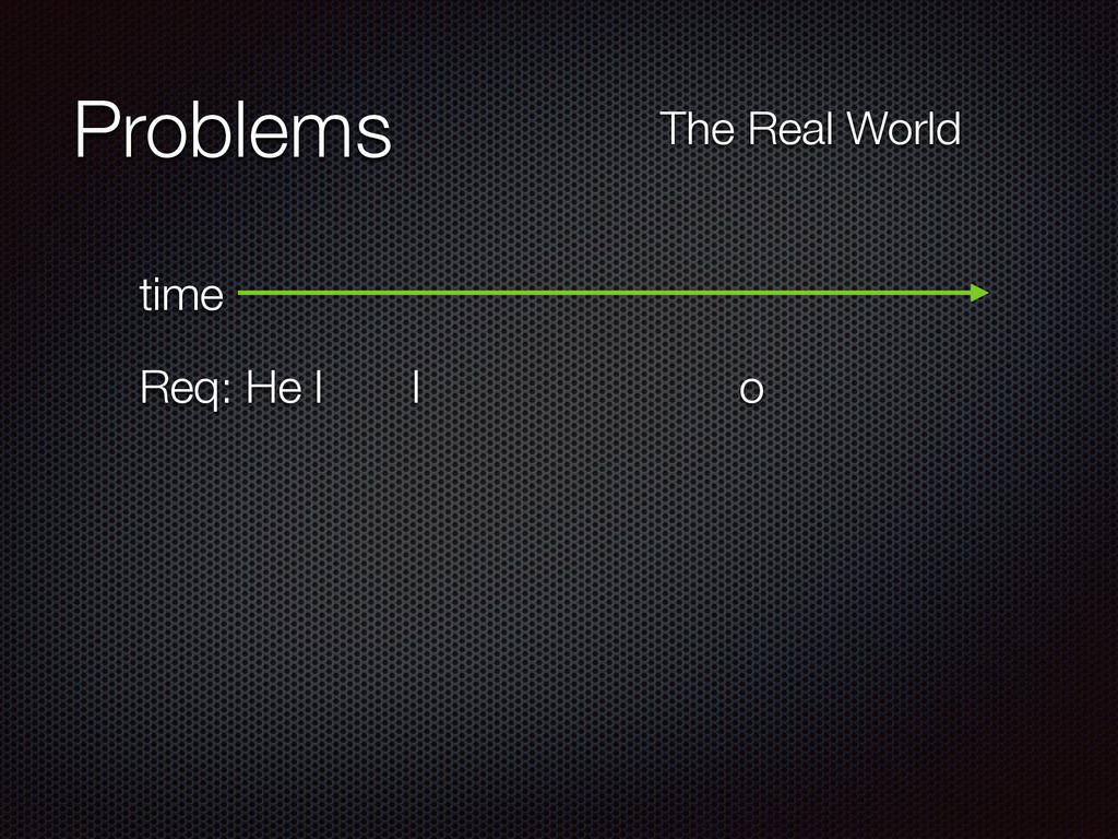 Problems time Req: He l l o The Real World