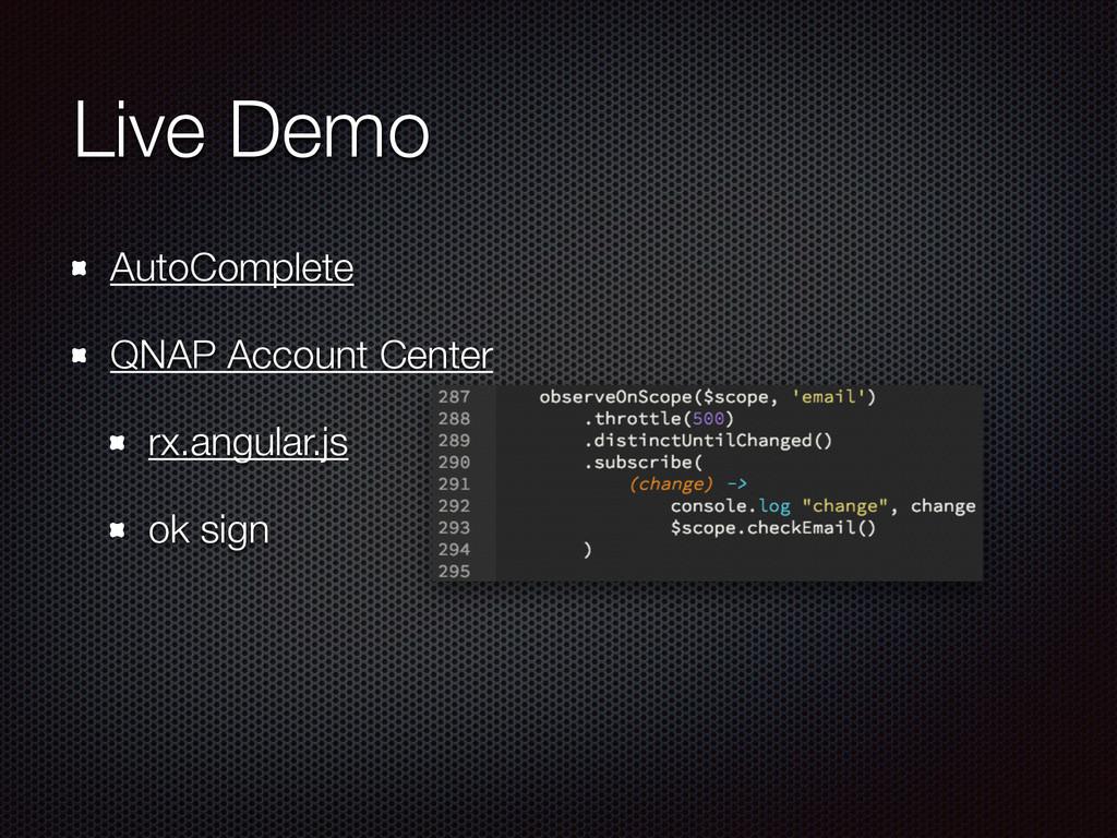 Live Demo AutoComplete QNAP Account Center rx.a...