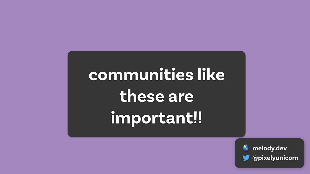 communities like