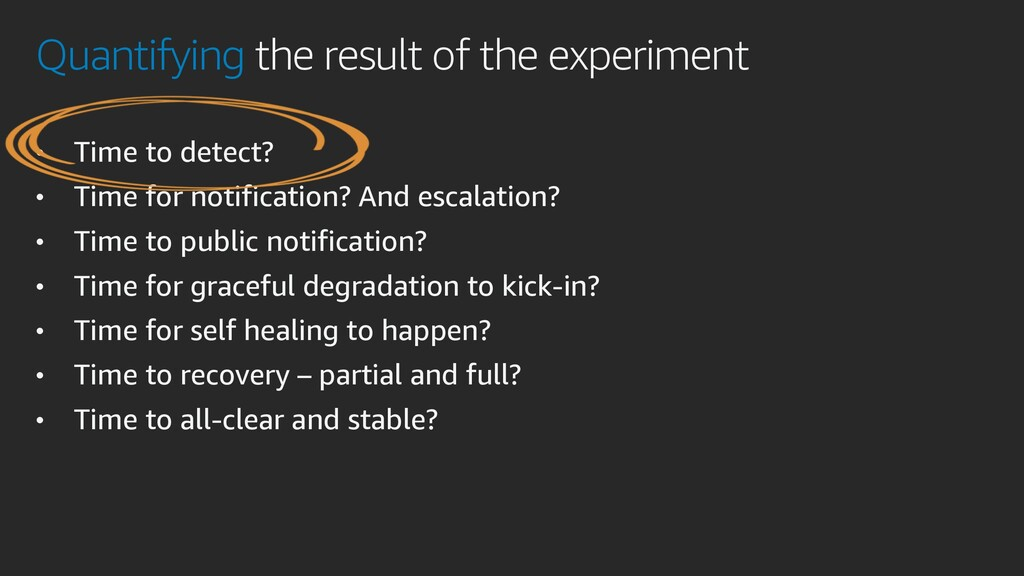 Quantifying the result of the experiment • Time...