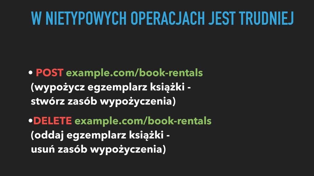 • POST example.com/book-rentals (wypożycz egzem...