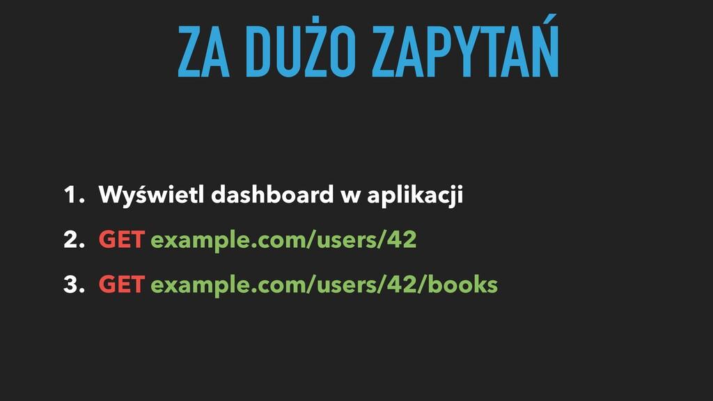 1. Wyświetl dashboard w aplikacji 2. GET exampl...