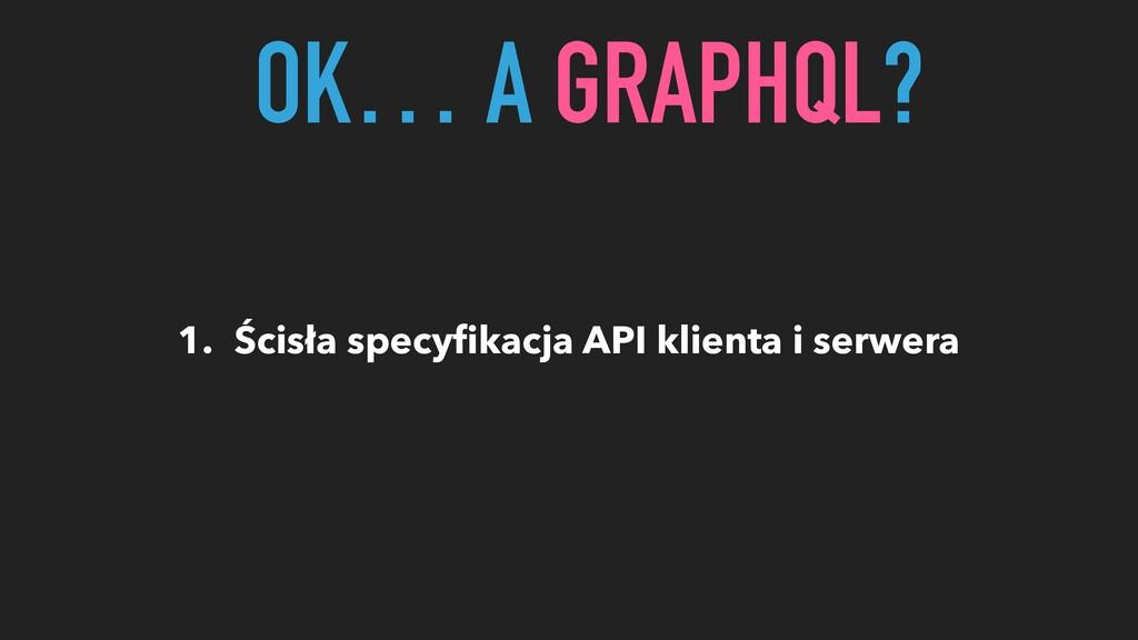1. Ścisła specyfikacja API klienta i serwera OK…...