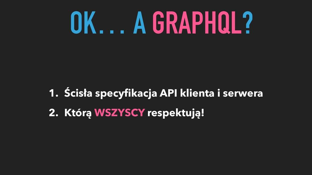 1. Ścisła specyfikacja API klienta i serwera 2. ...