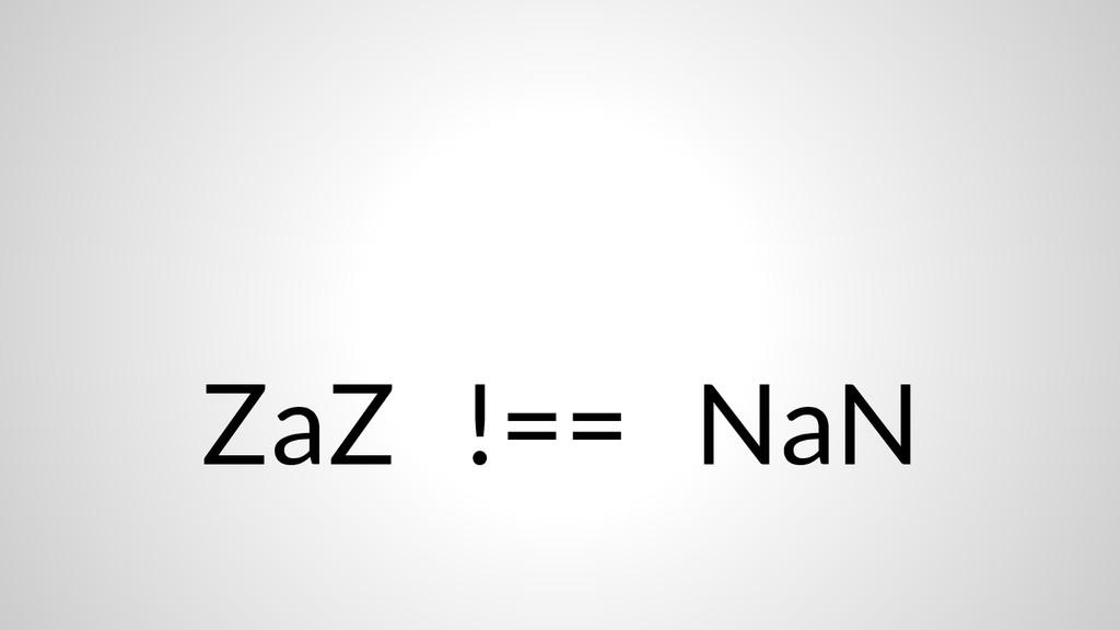 ZaZ !== NaN