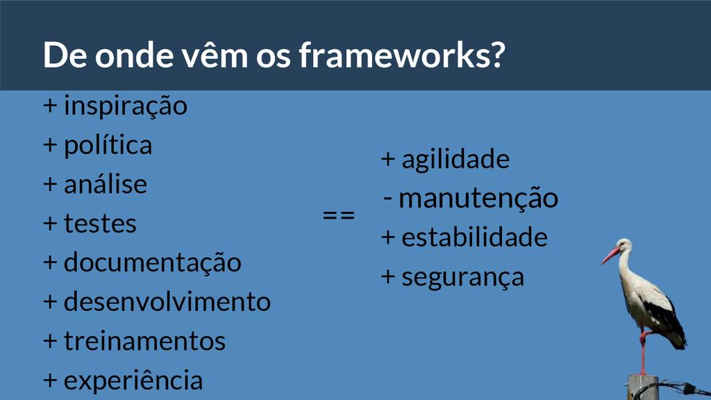 De onde vêm os frameworks? + inspiração + polít...