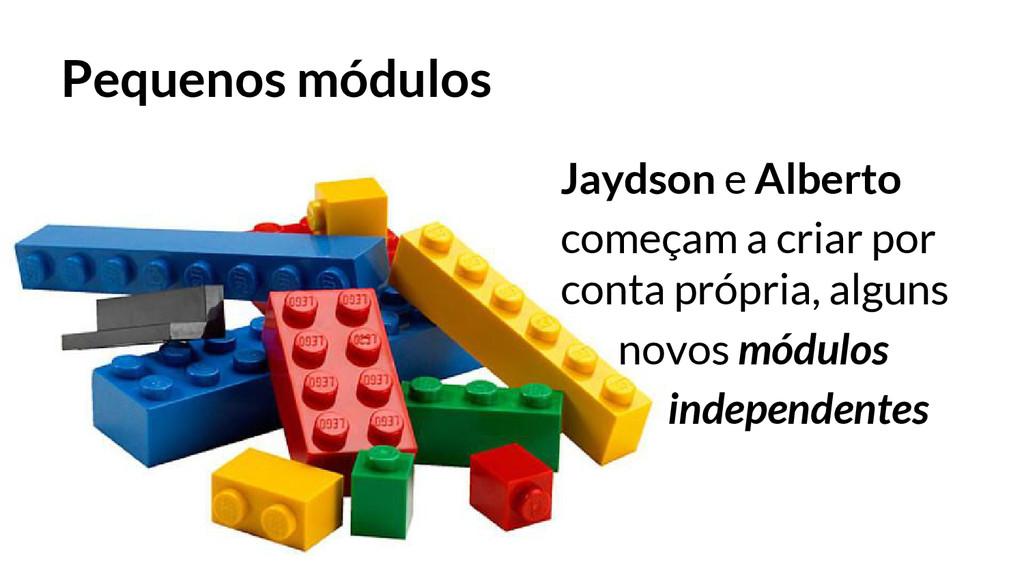 Pequenos módulos Jaydson e Alberto começam a cr...