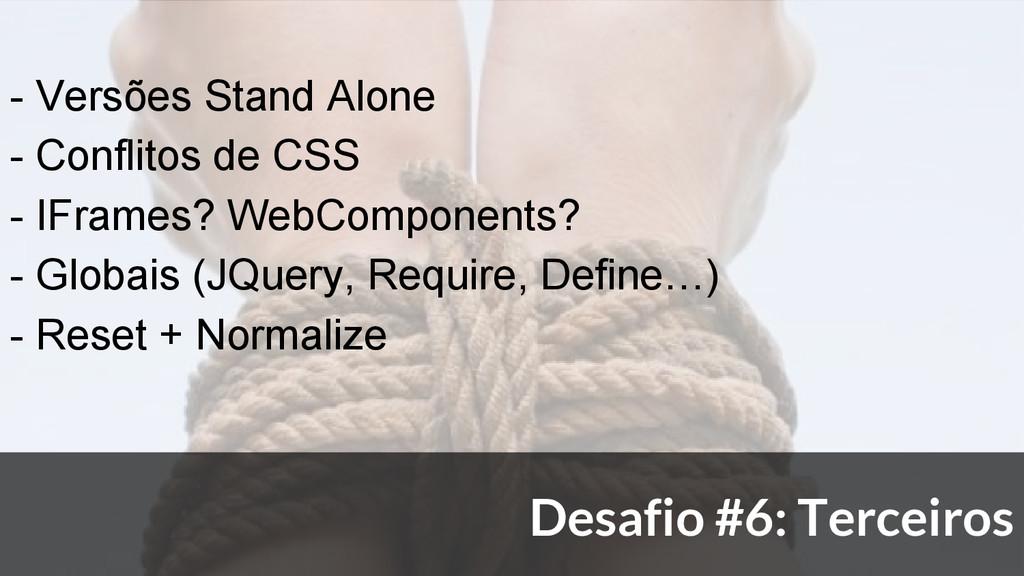- Versões Stand Alone - Conflitos de CSS - IFra...