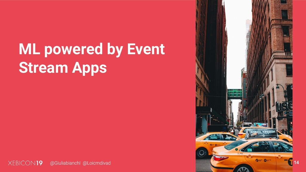 ML powered by Event Stream Apps 14