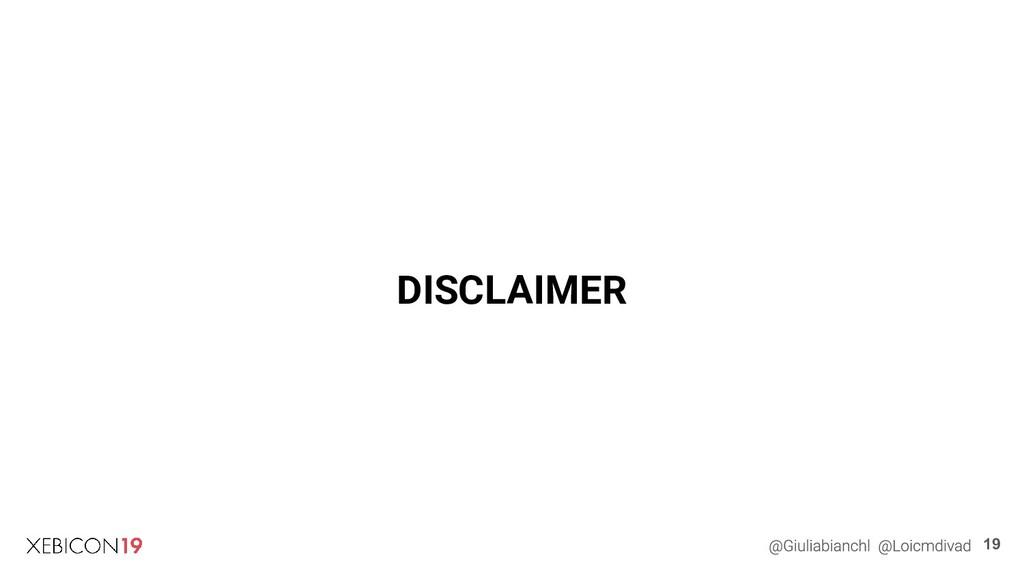 DISCLAIMER 19