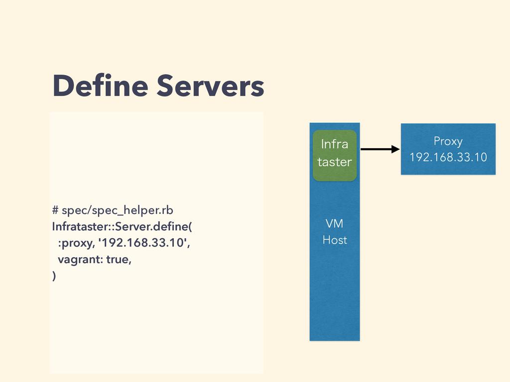 Define Servers # spec/spec_helper.rb Infrataster...