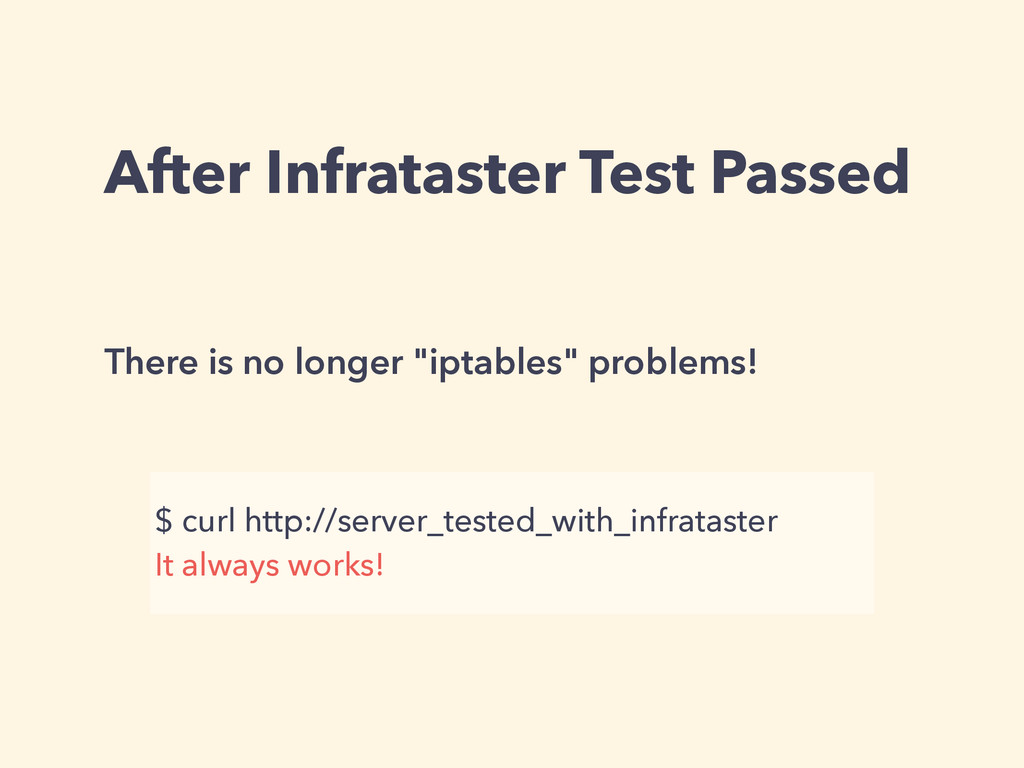 After Infrataster Test Passed There is no longe...