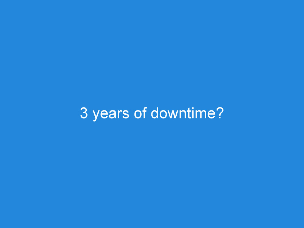 3 years of downtime?