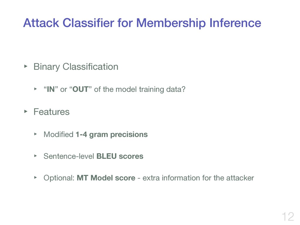 Attack Classifier for Membership Inference ‣ Bin...