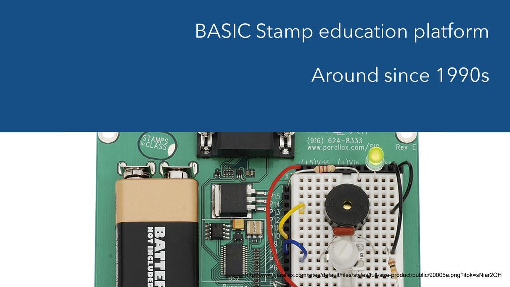 BASIC Stamp education platform Around since 19...
