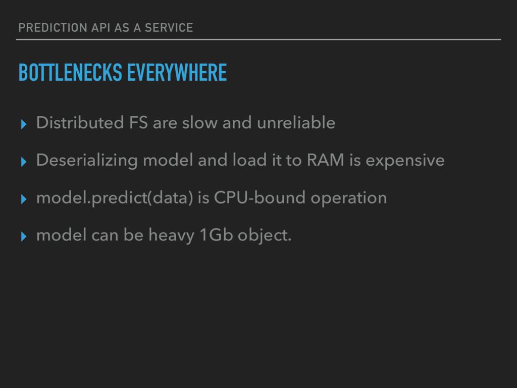 PREDICTION API AS A SERVICE BOTTLENECKS EVERYWH...