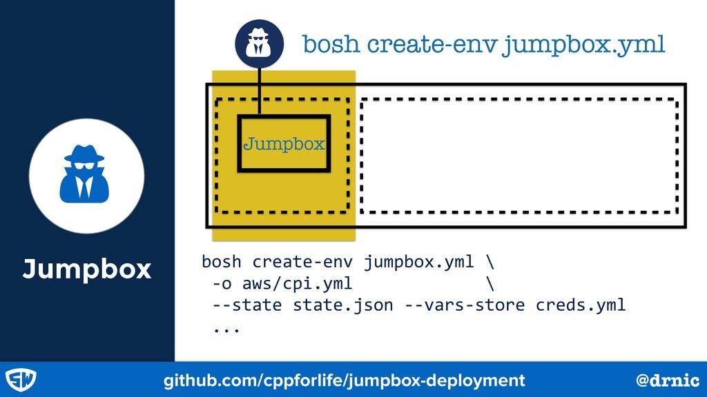 Jumpbox Ǻ Jumpbox bosh create-env jumpbox.yml Ǻ...