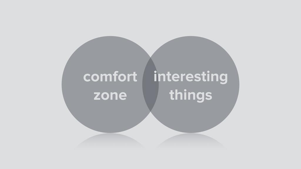 comfort zone interesting things