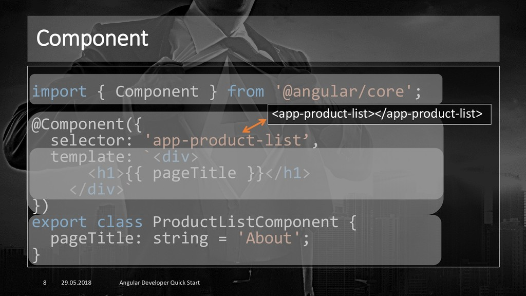 Component 29.05.2018 Angular Developer Quick St...