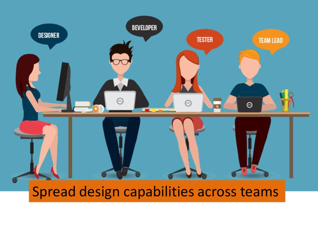 Spread design capabilities across teams