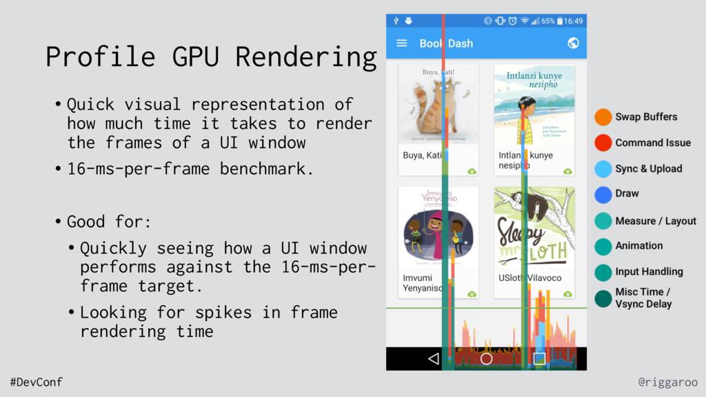 @riggaroo #DevConf Profile GPU Rendering • Quic...