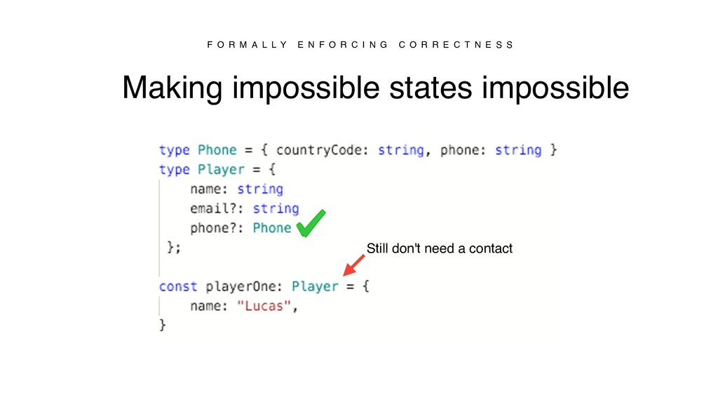 Making impossible states impossible F O R M A L...