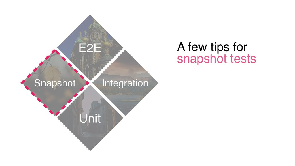 A few tips for snapshot tests E2E Unit Integrat...
