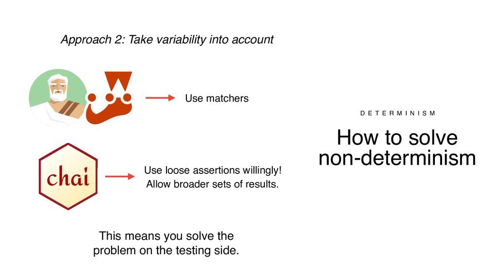 How to solve non-determinism D E T E R M I N I ...