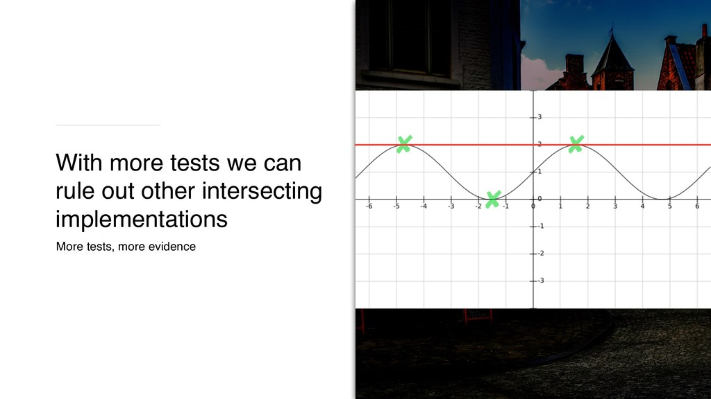 More tests, more evidence x^2 x^4 With more tes...