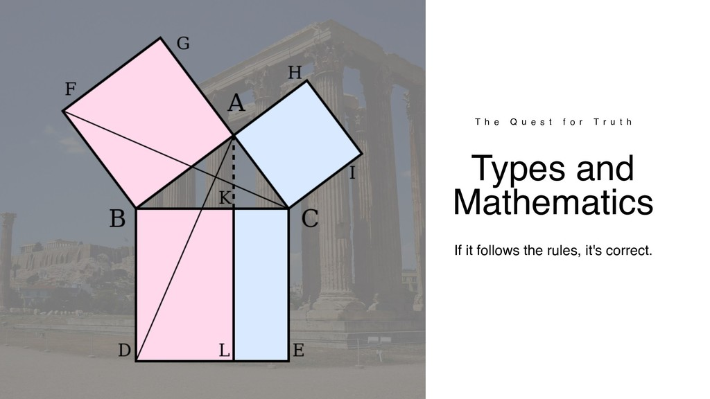 Types and Mathematics If it follows the rules, ...