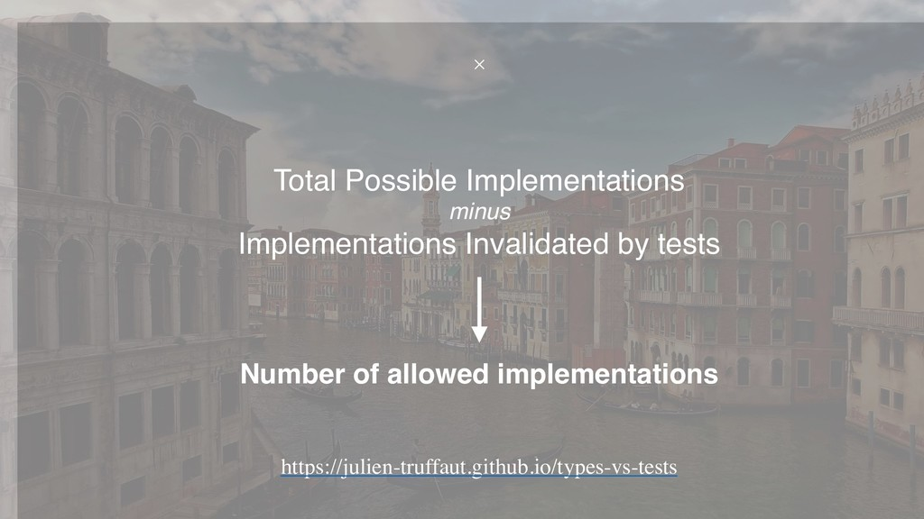 Number of allowed implementations Total Possibl...