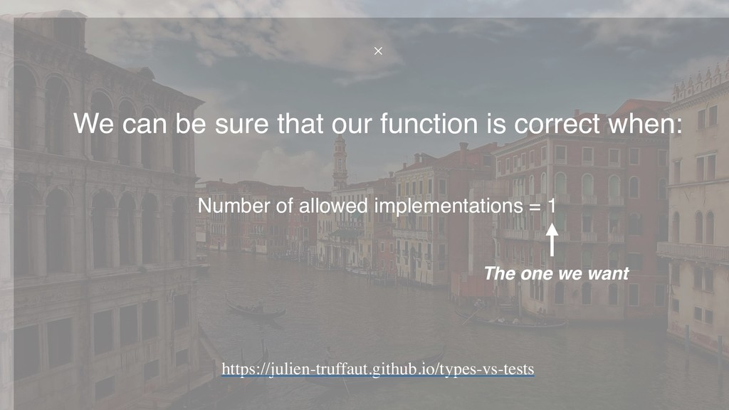 Number of allowed implementations = 1 We can be...