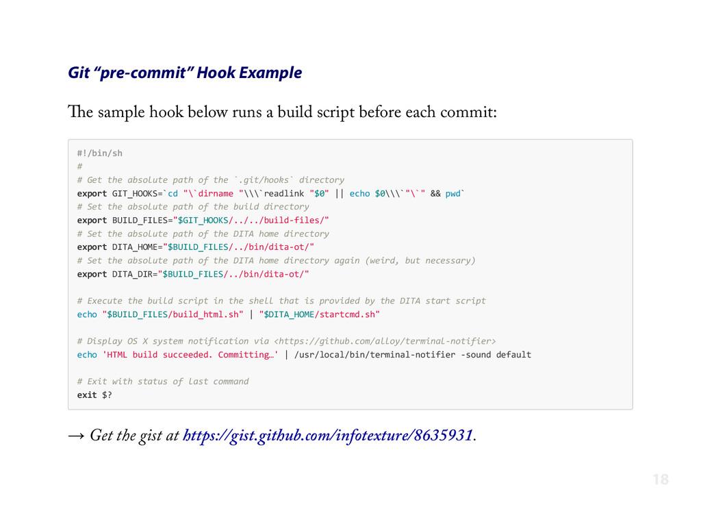 """Git """"pre-commit"""" Hook Example The sample hook b..."""