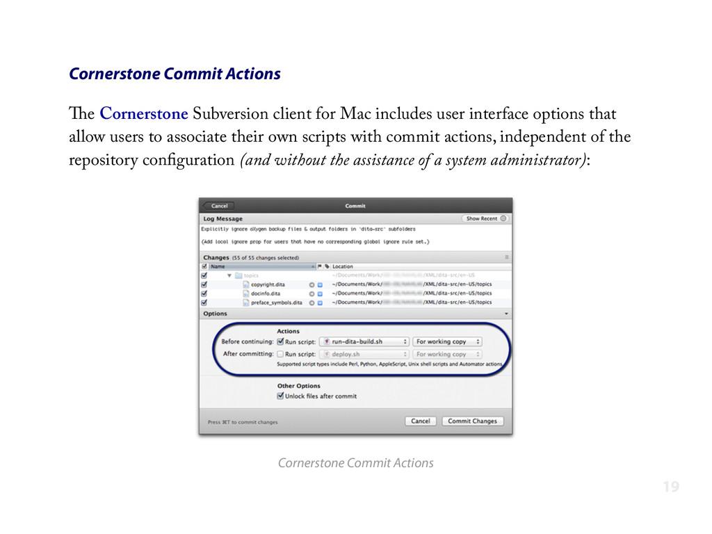 Cornerstone Commit Actions The Cornerstone Subv...