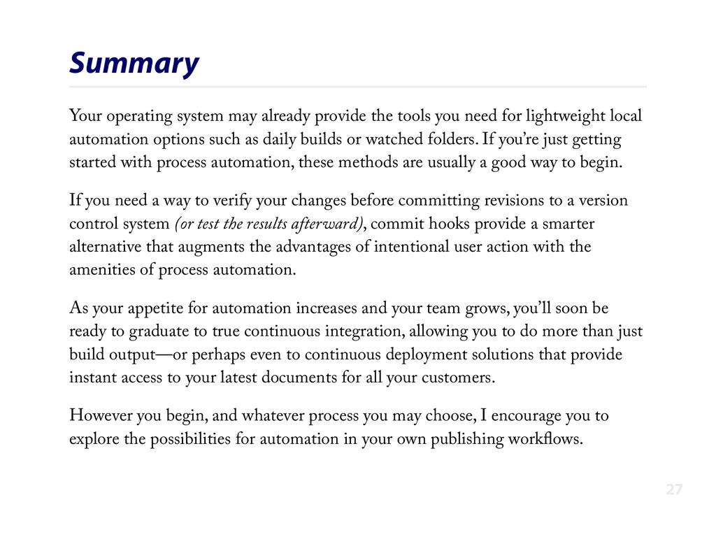 Summary Your operating system may already provi...