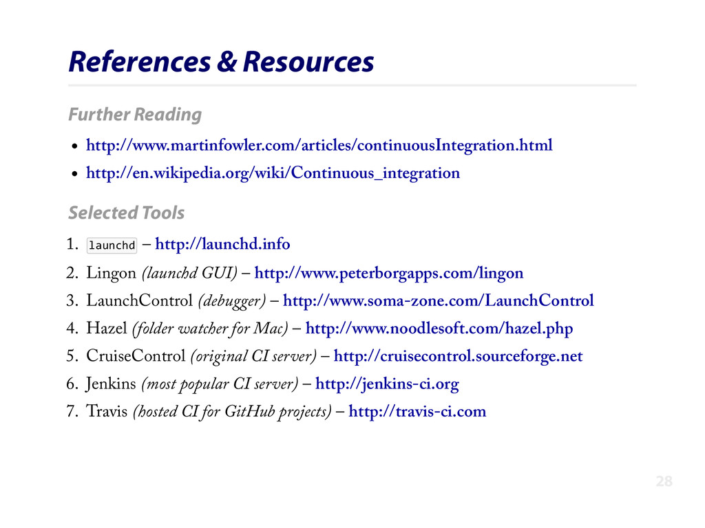 References & Resources Further Reading http://w...