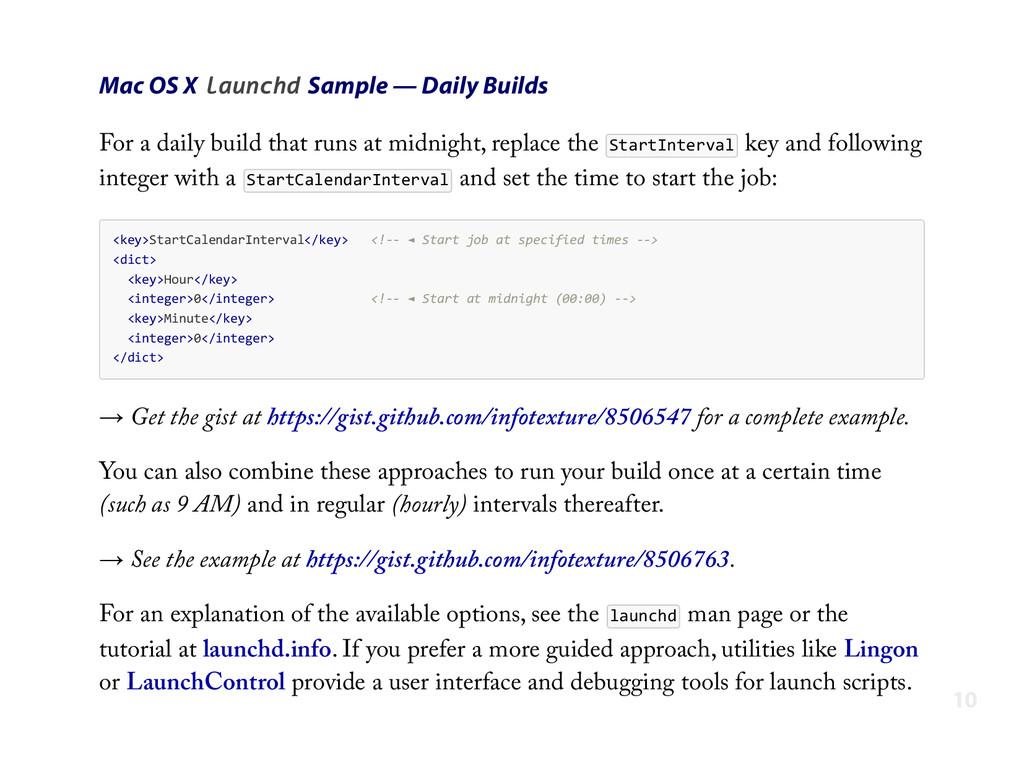 Mac OS X launchd Sample — Daily Builds For a da...