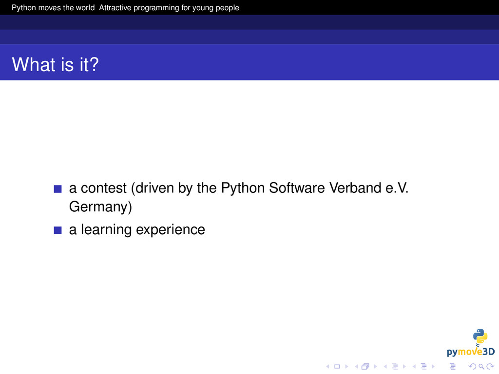 Python moves the world Attractive programming f...