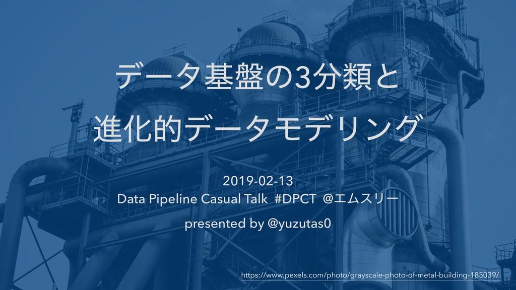σʔλج൫ͷ3ྨͱ ਐԽతσʔλϞσϦϯά 2019-02-13 Data Pipeli...